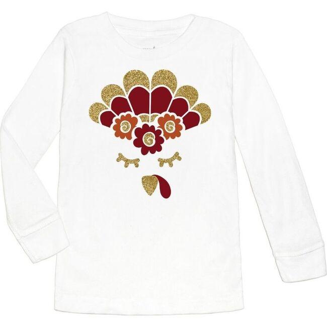 Turkey Flower Crown L/S Shirt, White