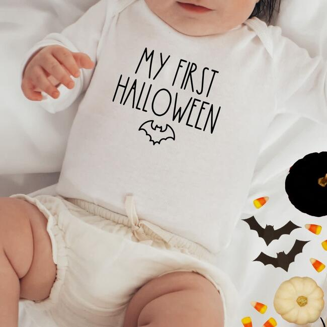 My First Halloween L/S Bodysuit, Natural