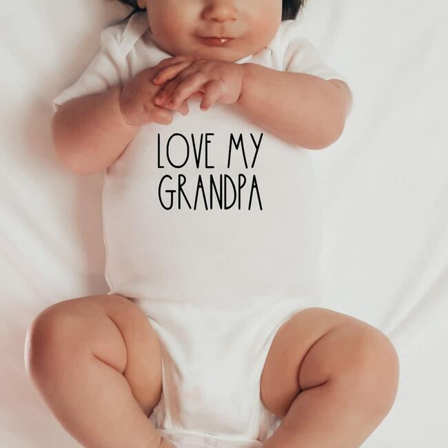 Love My Grandpa S/S Bodysuit, Natural
