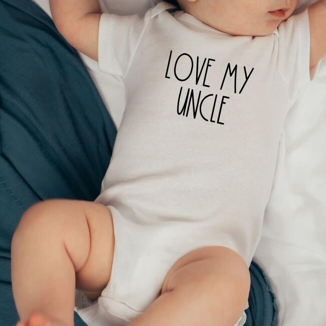 Love My Uncle S/S Bodysuit, Natural