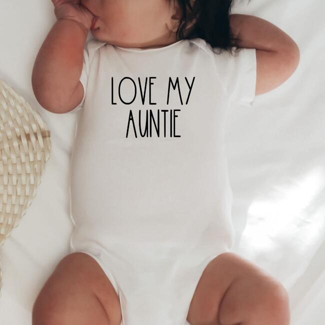 Love My Auntie S/S Bodysuit, Natural