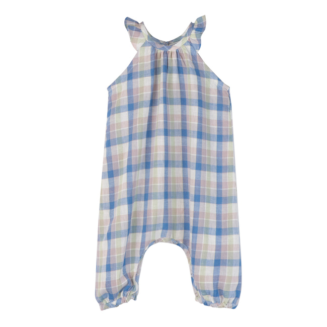 Baby Willow Jumpsuit, Blue Multi Check