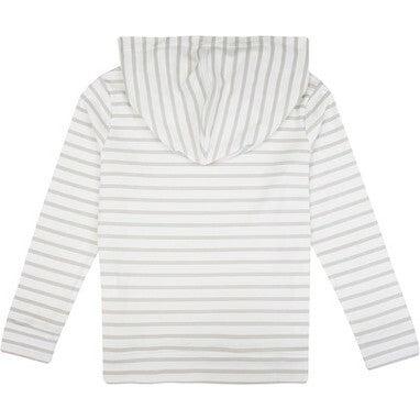 Pima Cotton Hoody, Grey Stripes