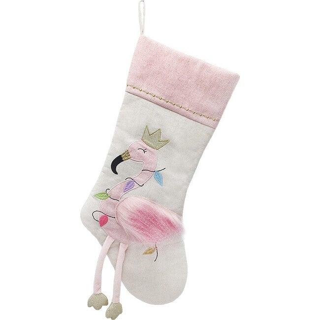 Festive Flamingo Stocking