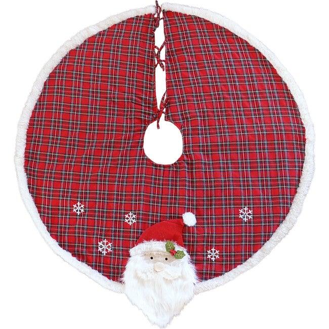 Tartan Santa Tree Skirt