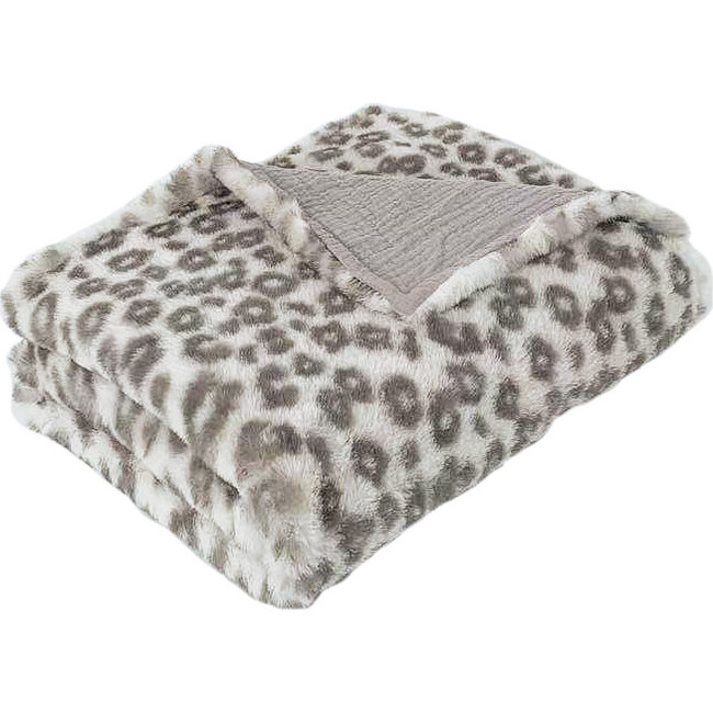 Charmante Faux Fur Baby Blanket, Leopard