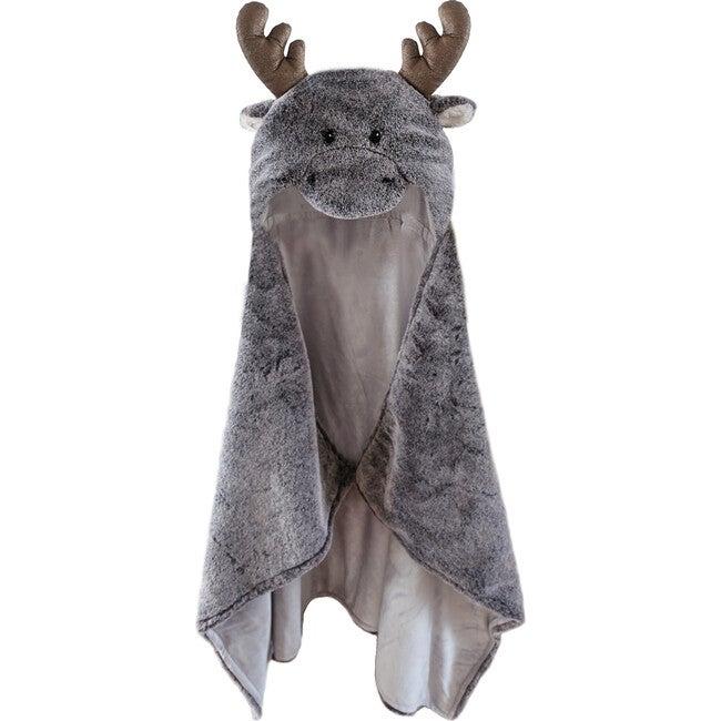 Marley Moose Hooded Blanket