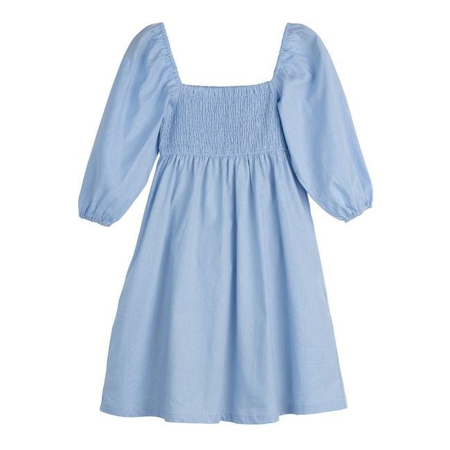 Women's Celine Smocked Dress, Dusty Blue