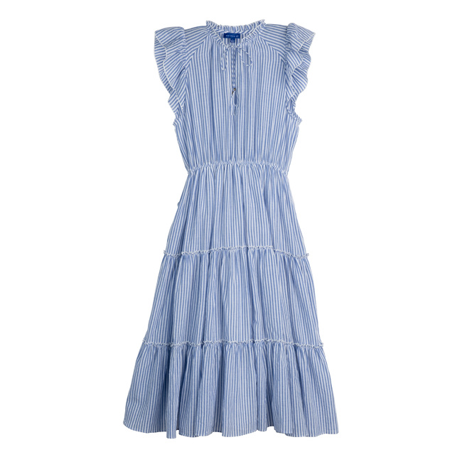 Women's Simone Dress, Blue Stripe