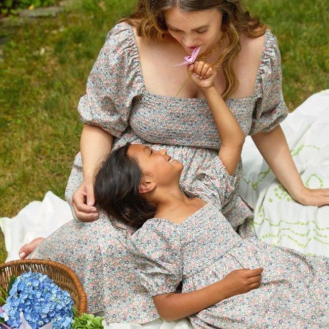Women's Celine Smocked Dress, Flower Garden
