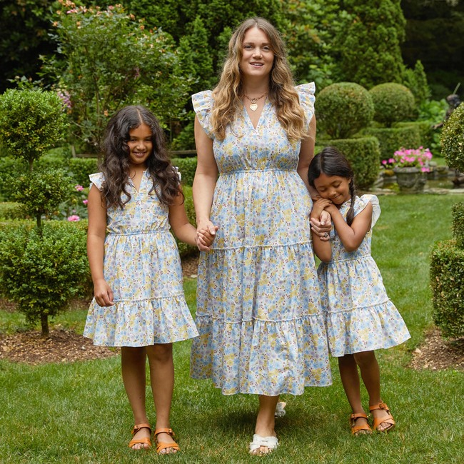 Women's Simone Dress, Flower Garden