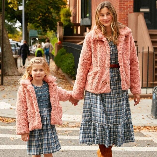 Women's Penelope Cropped Teddy Coat, Rose