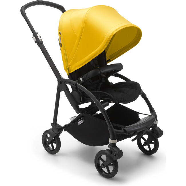 Bugaboo Bee6 Complete, Black Base & Lemon Yellow Canopy
