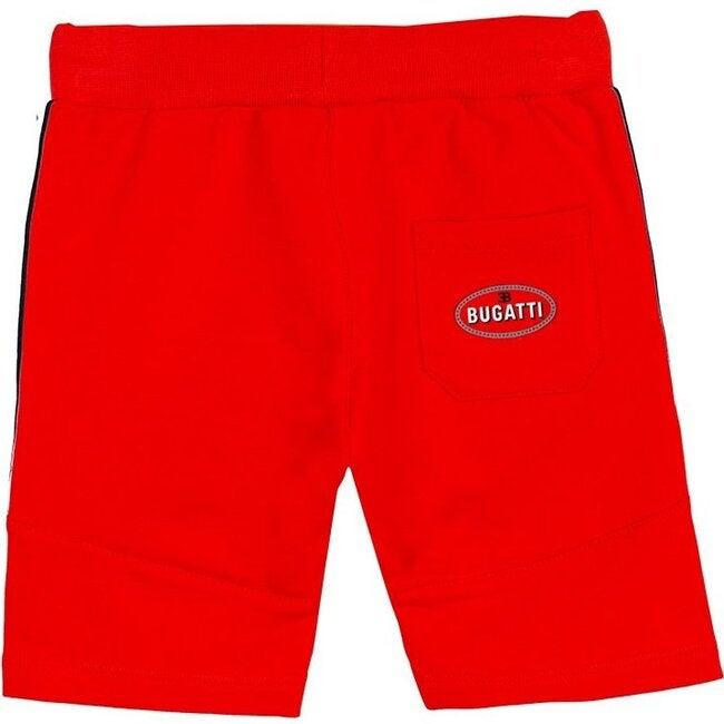 Strip Logo Shorts, Red