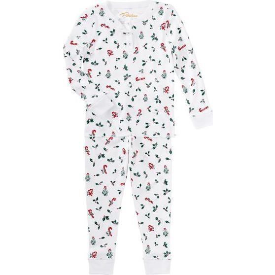 Jolly Hollies Pajama Set, Green