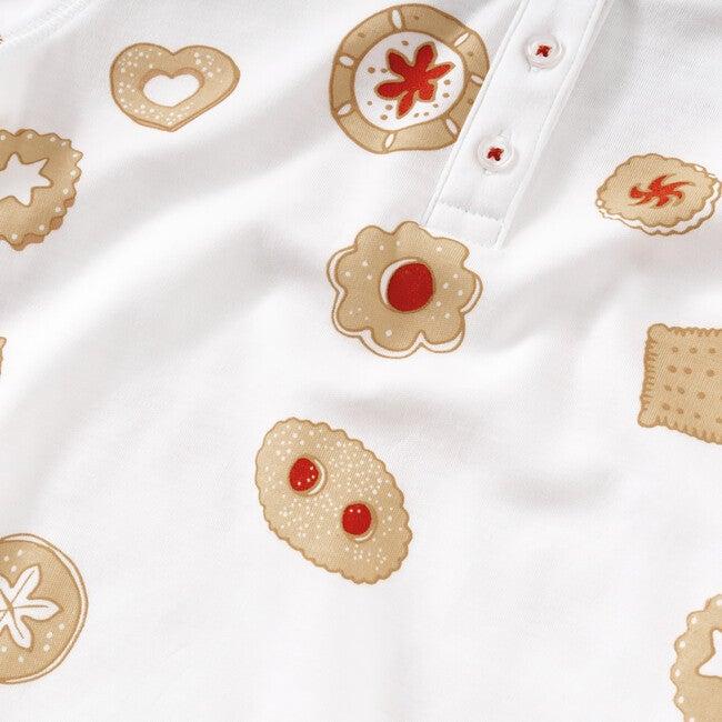 Homemade Cookies Pajama Set, Brown & Red