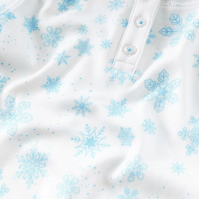 Blue Flurries Pajama Set, Blue