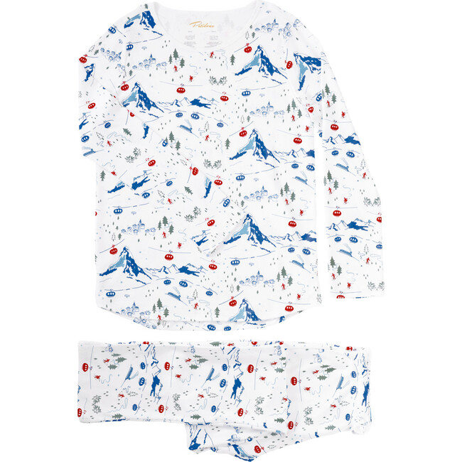 A Swiss Village Women's Pajamas, Blue