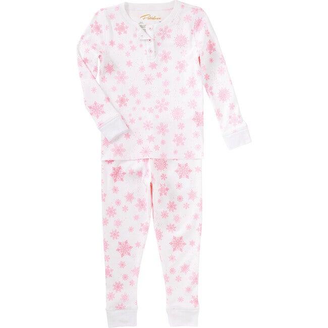 Pink Flurries Pajama Set, Pink