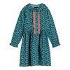 Gigi Dress, Petrol Pansies - Dresses - 1 - thumbnail