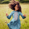 Gigi Dress, Petrol Pansies - Dresses - 2