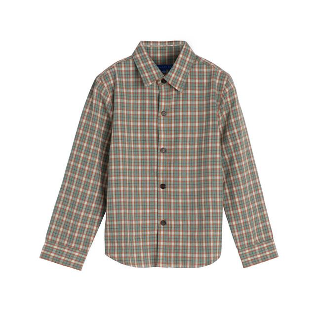 Max Button Down, Green & Red Check - Shirts - 1