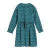 Gigi Dress, Petrol Pansies - Dresses - 3