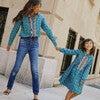 Gigi Dress, Petrol Pansies - Dresses - 4