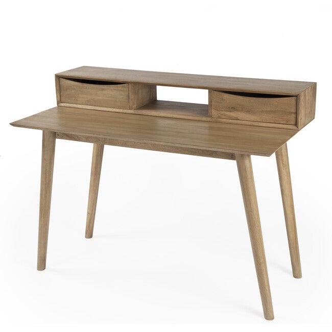 Serafimida Writing Desk, Natural Wood