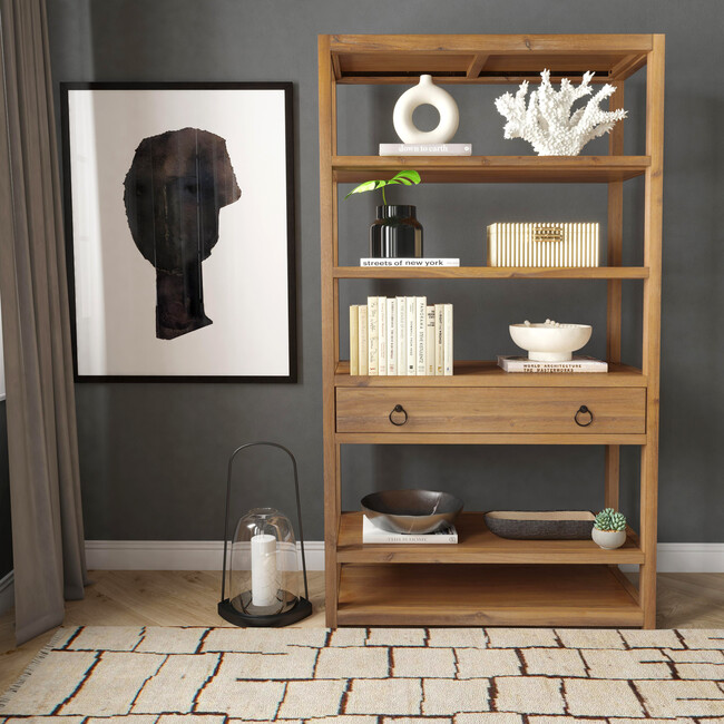 Lark Bookshelf, Natural Wood