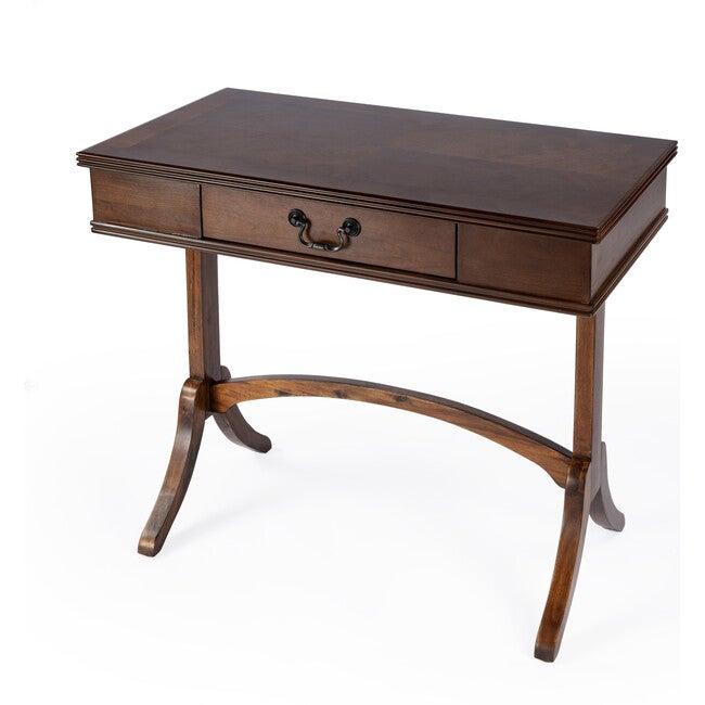 Alta 1 Drawer Writing Desk, Cherry Brown