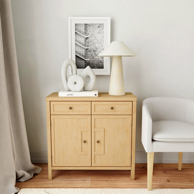 Imperial Console Cabinet, Natural Wood