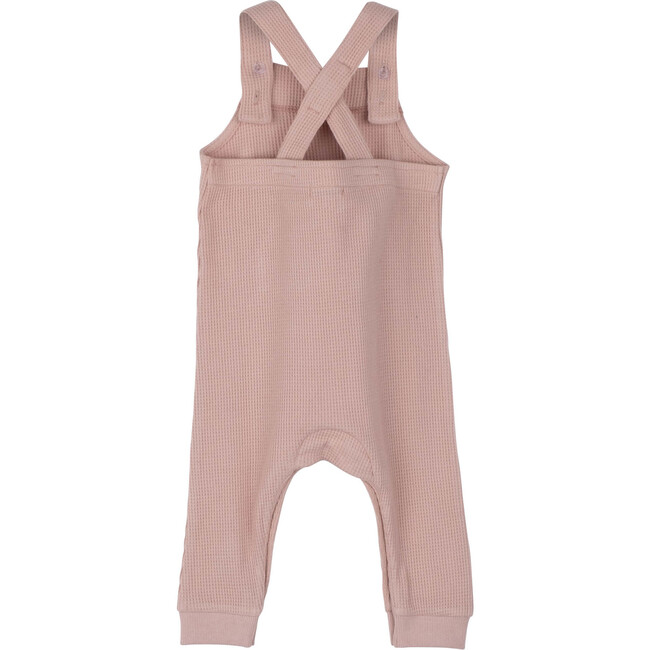 Baby Neal Waffle Overall, Dusty Pink