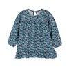 Baby Deja Jersey Dress, Petrol Pansies - Dresses - 1 - thumbnail