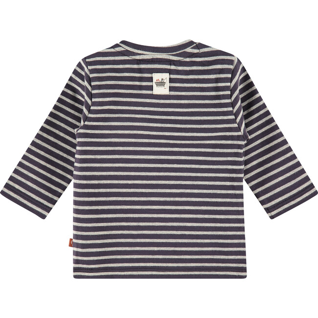Striped Pocket Long Sleeve Tee, Dark Blue