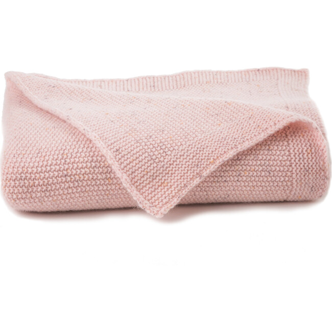 Textured Seed Cashmere Blanket, Pink Speckle