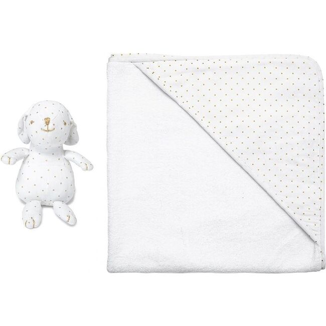 Hooded Towel & Bunny, Gold Spot