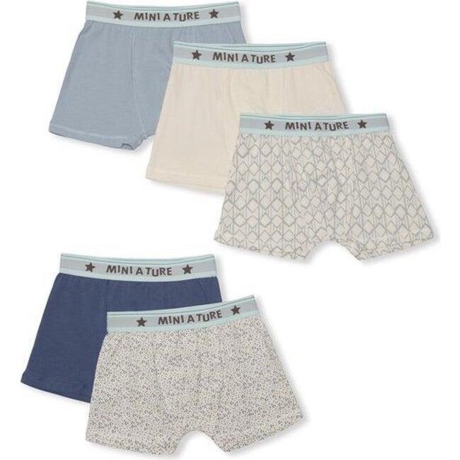 5-pack Organic Yash Boxers, Blue Mix