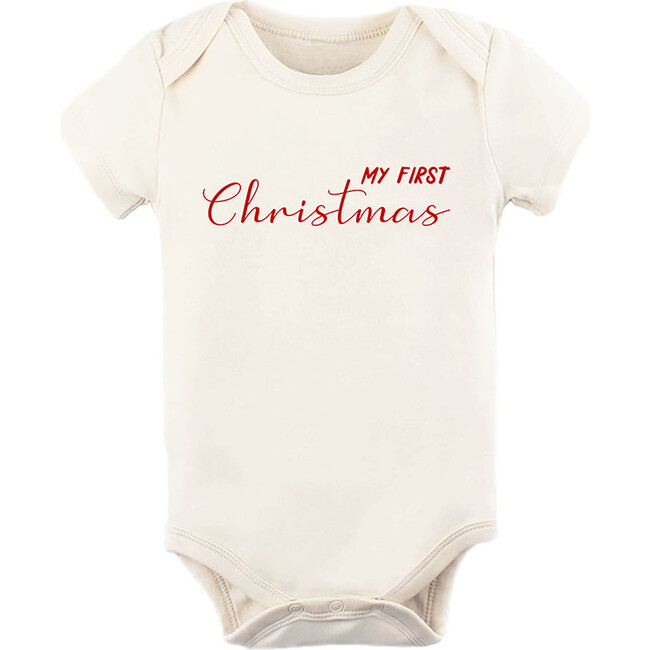 My First Christmas Short Sleeve Onesie, Red