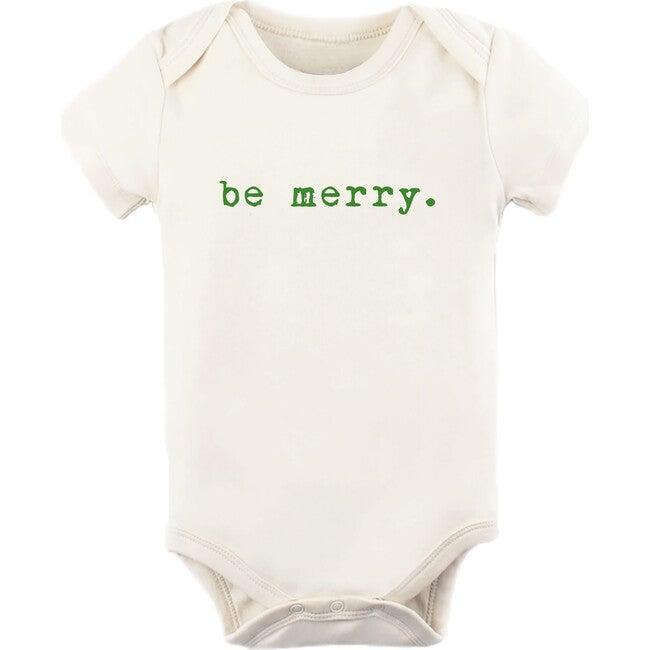Be Merry Short Sleeve Onesie, Green