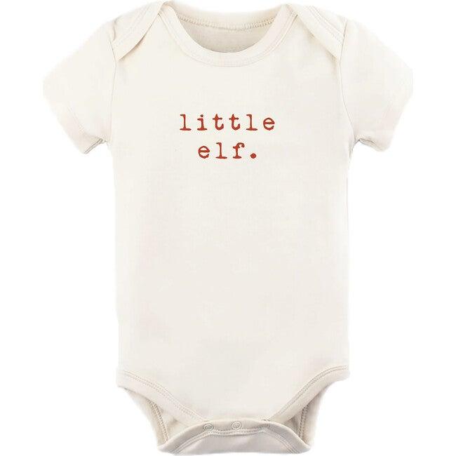 Little Elf Short Sleeve Onesie, Red