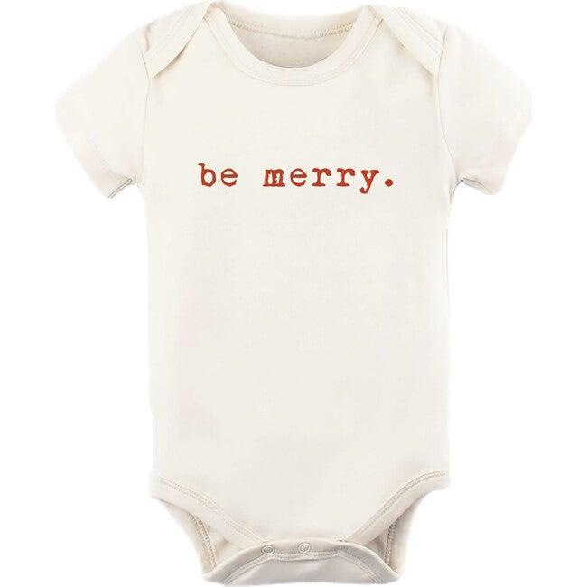 Be Merry Short Sleeve Onesie, Red
