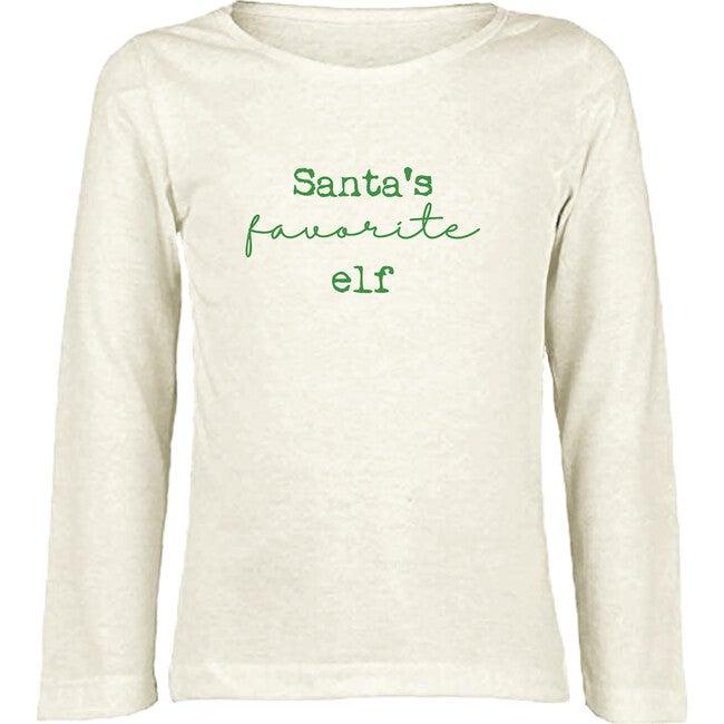 Santa's Favorite Elf Long Sleeve Tee, Green