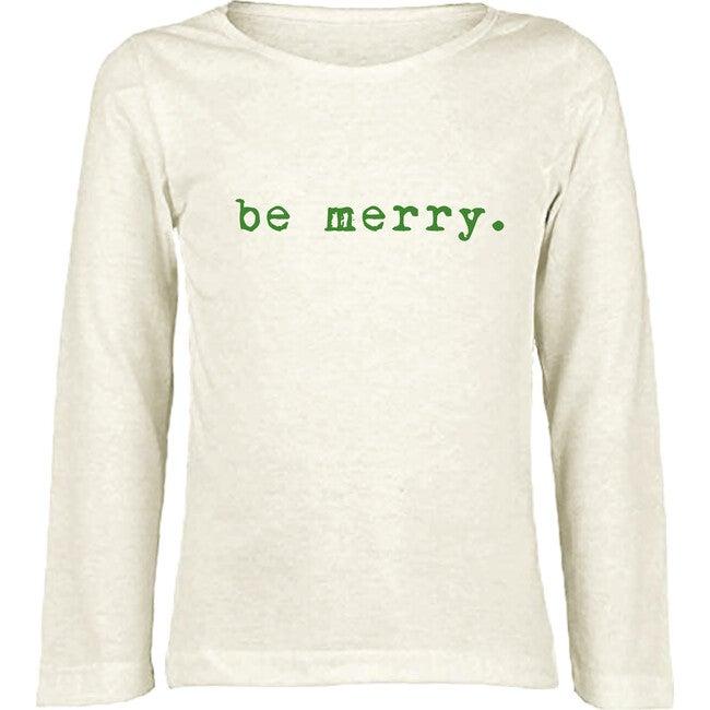 Be Merry Long Sleeve Tee, Green