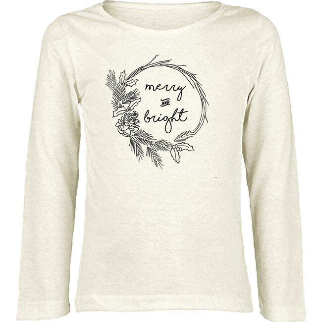 Merry and Bright Long Sleeve Tee, Black