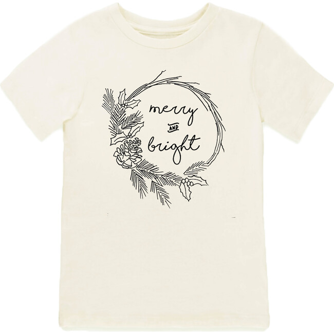 Merry and Bright Short Sleeve Tee, Black