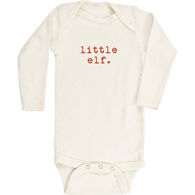 Little Elf Long Sleeve Onesie, Red