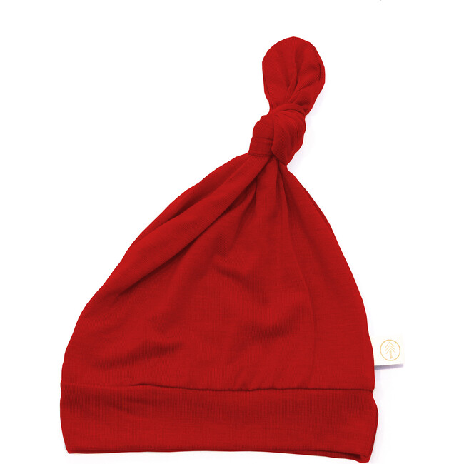 Bamboo Baby Top Knot Hat, Red