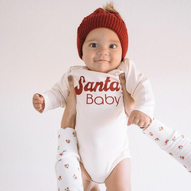 Santa Baby Long Sleeve Onesie, Red