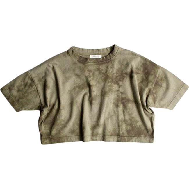 The Tie-Dye Oversized Tee, Olive and Sage Tie-Dye